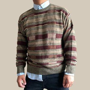 Vintage Towncraft Striped Pullover Knit Sweater